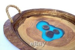 Wooden Serving Tray Handmade Wood Tray Unique Ottoman Tray Rustic Breakfast Tray