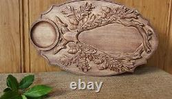 Wooden Serving Tray With Handles Food Tea Table handmade Tray Coffee Plate Gadge