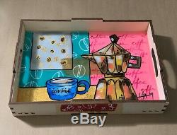 Wooden Serving Tray with Handles/Serving Food, Coffee Tray 12X 8.7 By LISA