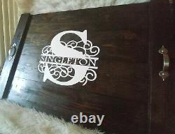 Wooden stove top cover noodle board serving tray farmhouse kitchen decor
