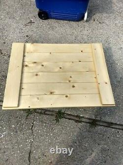 Wooden stove top cover, noodle board, serving tray, poly, farmhouse, knotty pine