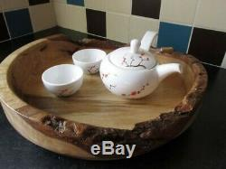 Wych Elm Wooden Serving Tray or Platter A Beautiful Wedding Gift