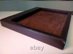 ZENITH SWISS WATCH Dealer Display WOOD+LEATHER Showroom Pad Serving Salon Tray